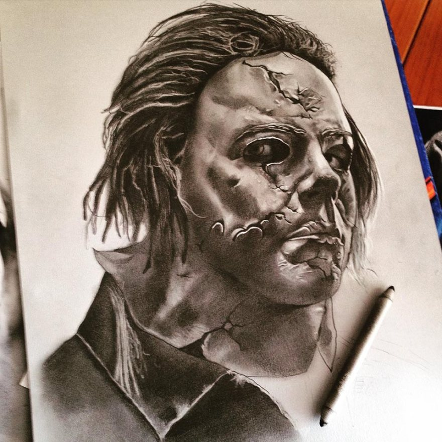 Alessandro Catena. Ritratto di Michael Myers