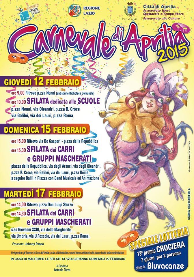Locandina per il Carnevale, di Francesca Deodati