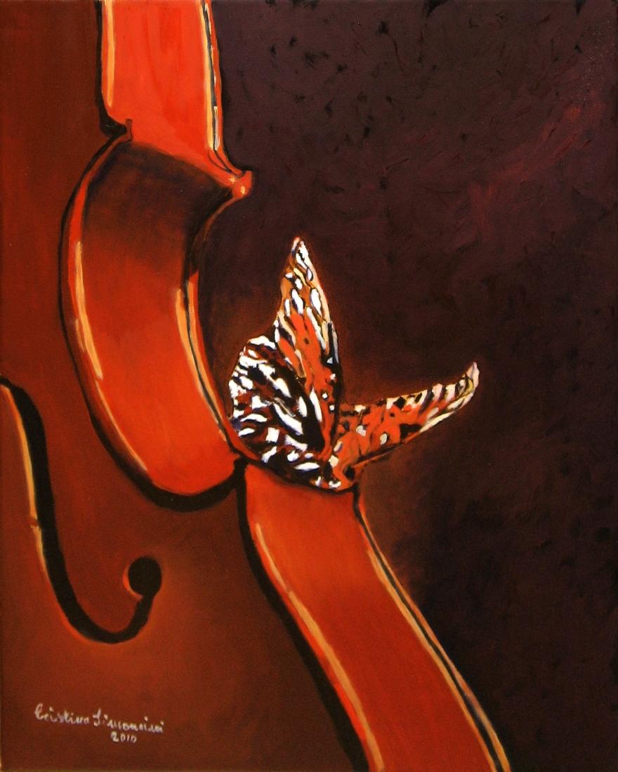 Violino e farfalla