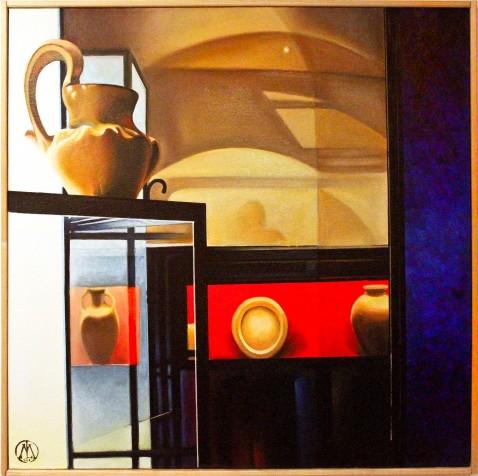 Visioni_di_Mondrian_al_museo_etrusco_cm_60x60_olio_su_tavola_telata_2012_