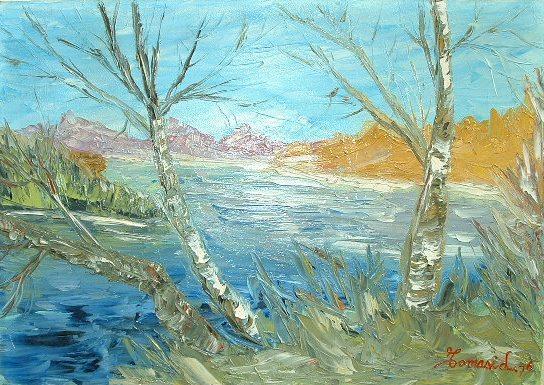 alberi-sul-lago-olio-spatola-su-tela-50x70-cm-collezione-privata-1976